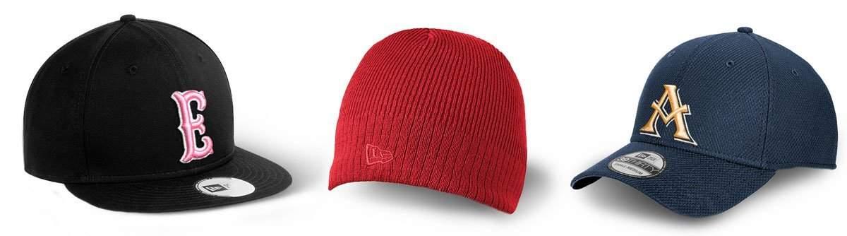 knit caps, new era hats
